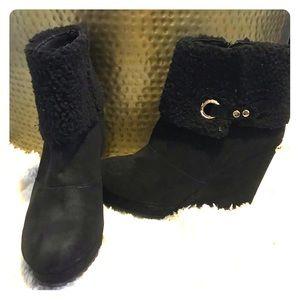 Juicy Couture wedge booties
